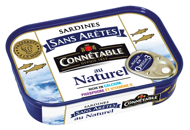 CONNETABLE  Des sardines prêtes à consommer, prêtes à cuisiner !