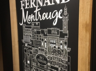 Big Fernand pose ses valises à Montrouge